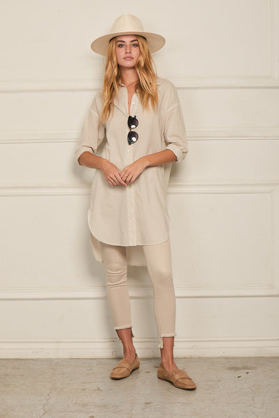 Boyfriend Tunic Cotton- Birch