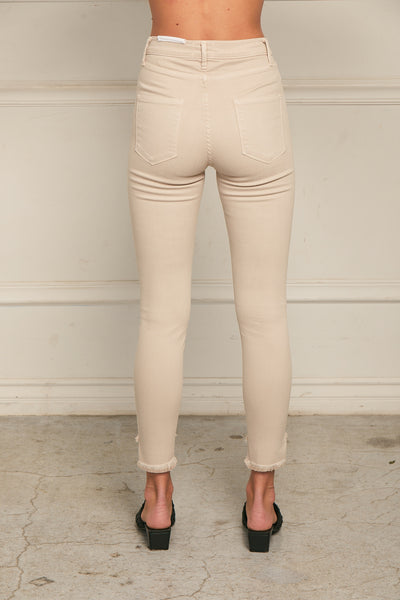 Cropped Skinny Pant Twill - Birch