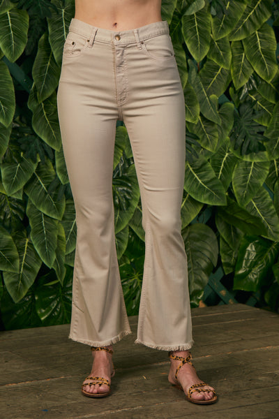 Cropped Flair Pant Twill - Birch