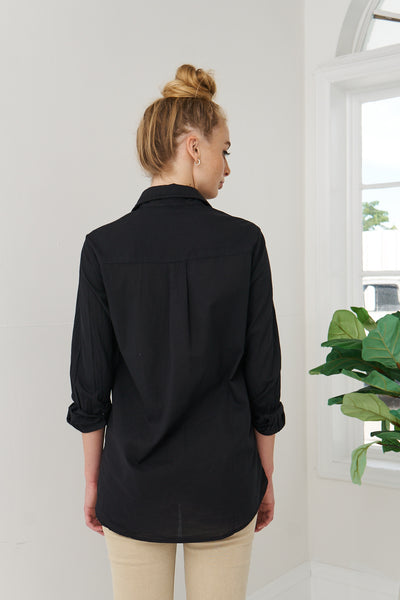 Boyfriend Shirt Cotton - Black