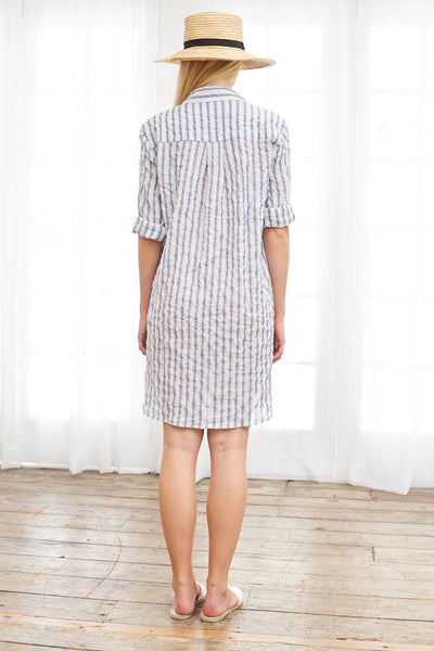 Pullover Dress Japanese Cotton Silk - Stripe