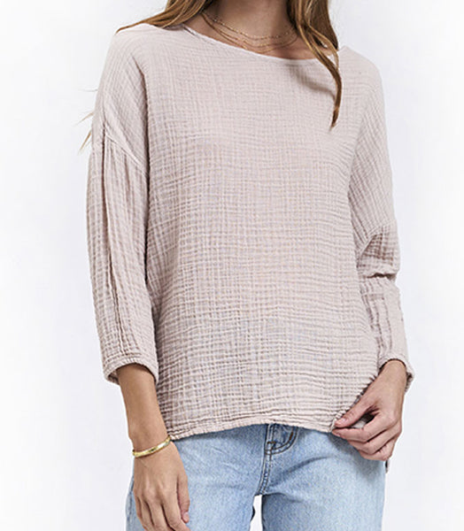 Boat Neck Top - Birch