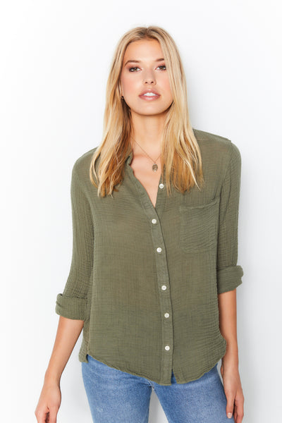 Boyfriend Top Gauze - Army