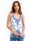 Racerback Tank Cotton Gauze - Tye Dye Dark Waters