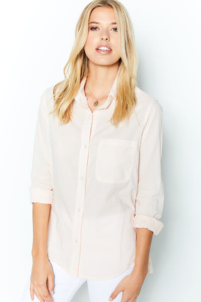 Boyfriend Top French Cotton - Petal