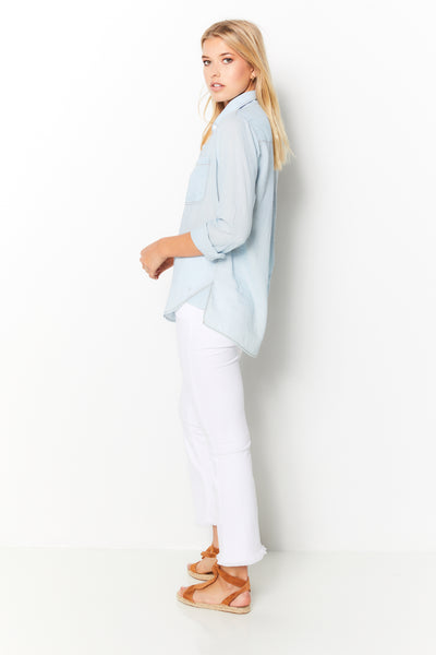 Boyfriend Top 100% Indigo Cotton - Light Denim