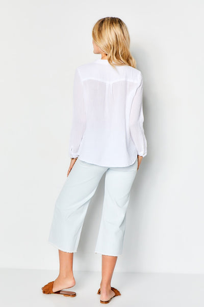 Pintuck Top Gauze -  White