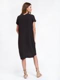 Gauze V Dress Carbon