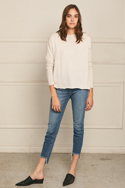 High-Low Sweater Cotton Cashmere - Putty