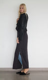 Boyfriend Maxi Dress Cotton Gauze - Carbon