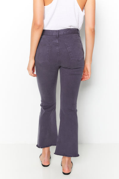 Cropped Flair Pant Twill - Carbon