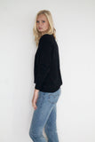 Baseball Cashmere Sweater Black