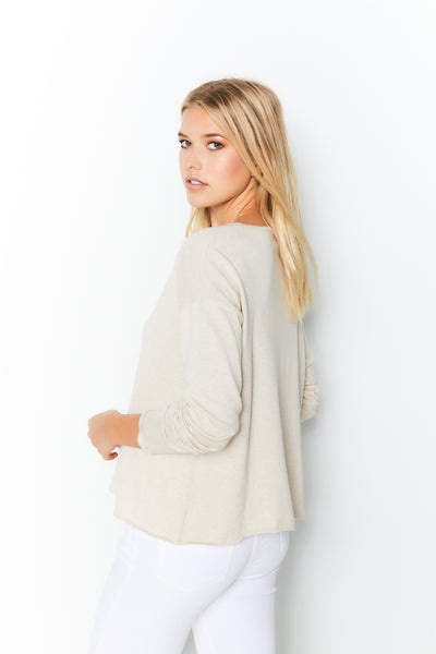 High-Low Sweater Cotton Cashmere - Chantilly