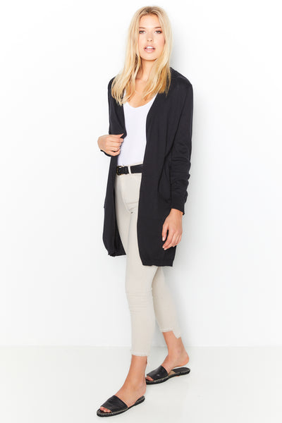 Pocket Cardigan  - Black