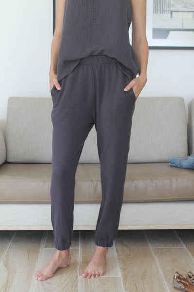 Jogger Pant French Terry Carbon