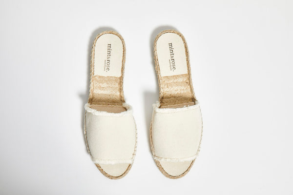 Olivia Slide Canvas  - White