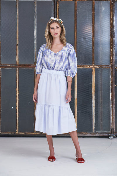 Peasant Top Japanese Cotton - Stripe