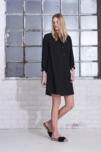 Poet Dress- Black
