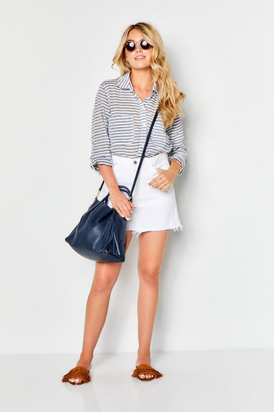 ZOE TOTE with Tassel  - Navy