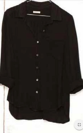 Pocket Shirt Rayon  - Black
