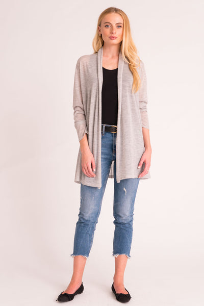Cardigan Tissue Cashmere - Light Grey