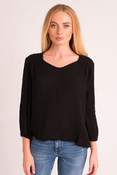 Venice Top Gauze - Black