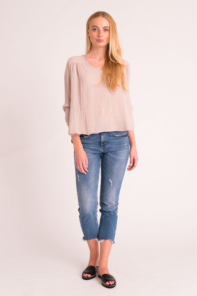 Venice Top Cotton Gauze - Flint