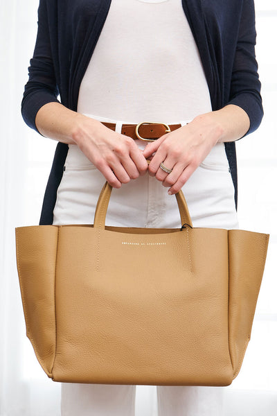 Half Tote Leather Soft - Camel