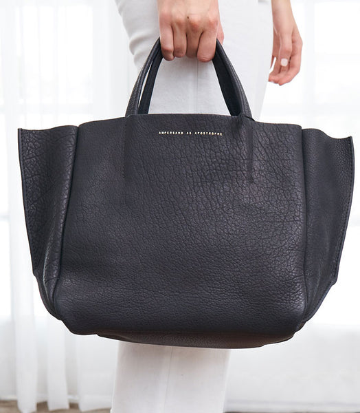 Half Tote Leather - Ink Buffalo