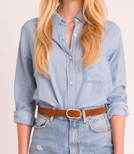 Boyfriend Shirt Denim - Light Wash