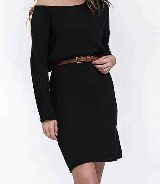 Off Shoulder Dress - Black