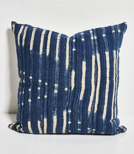 Square Indigo Pillow W/ Insert