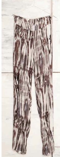 Tye Dye Rayon Tencel Harum Pant Black