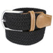 Mens Braided Elastic Woven Belt Black Xxxl