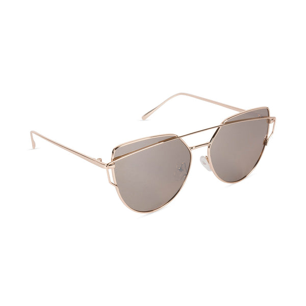 Cat Eye Mirrored Sunglasses Smoke