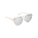 Cat Eye Mirrored Sunglasses Silver