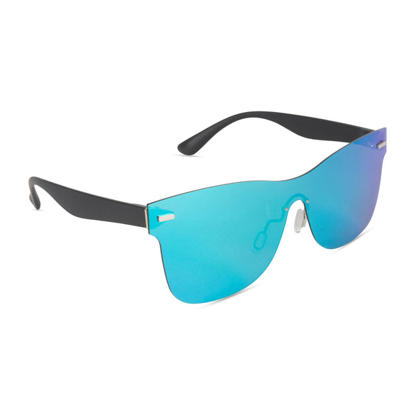 Full Mirror Sunglasses Light Blue Mirror