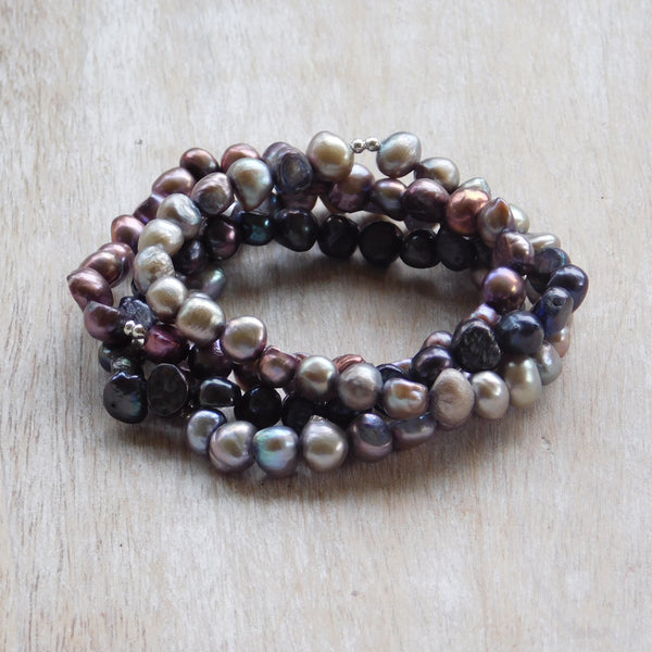 Pearl Stretch Bracelet - Multipurple