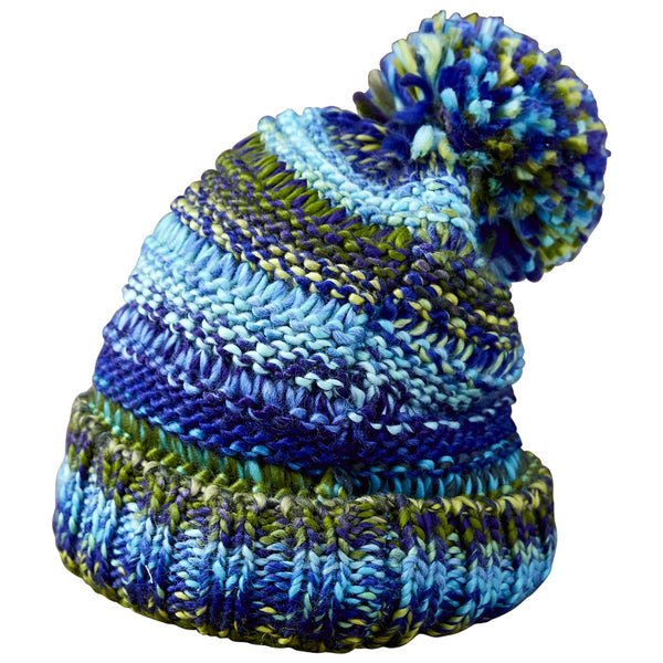 Ombre Knit Hat - Blue & Green