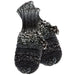 Ombre Knit Mittens - Black & White