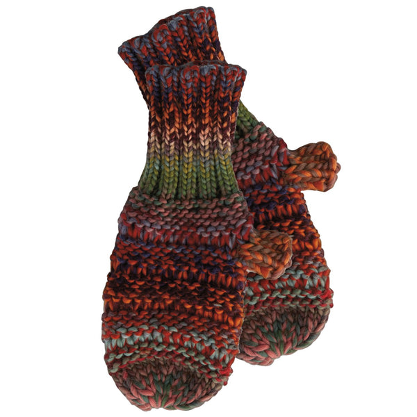 Ombre Knit Mittens - Multicolor