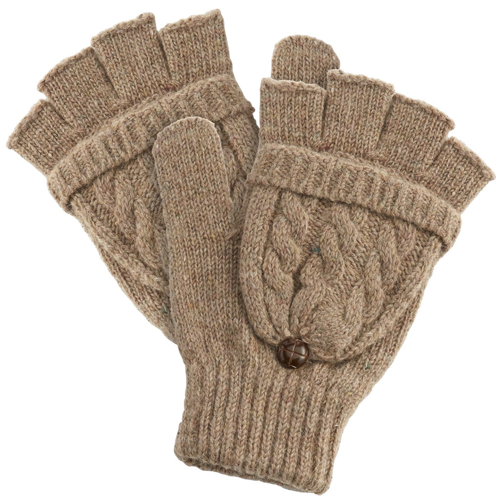 Winter Cableknit Gloves - Beige