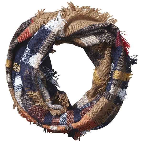 Bountiful Blanket Infinity Scarf - Brown