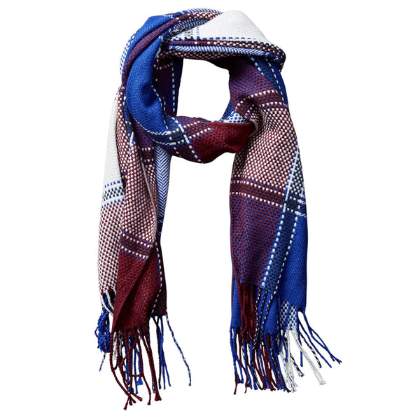 Kendall Fall Plaid Scarf - Wine