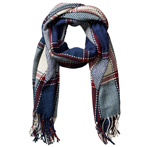 Kendall Fall Plaid Scarf - Dark Green