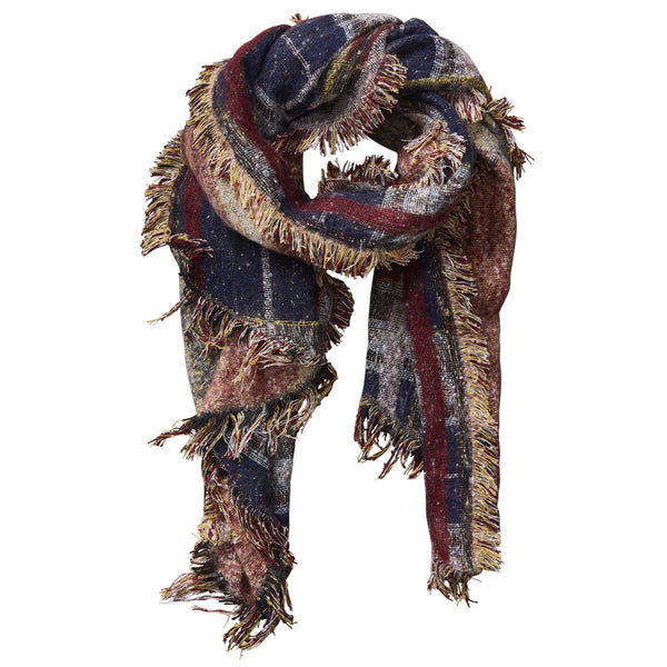 Heritage Plaid Scarf - Wine
