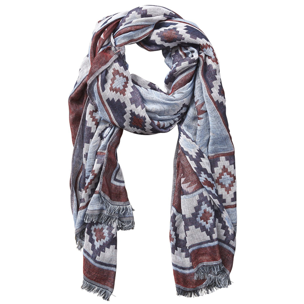 Aztec Tapestry Scarf - Wine