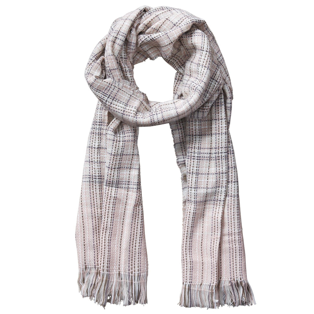 Arbor Lane Plaid Scarf - Pink