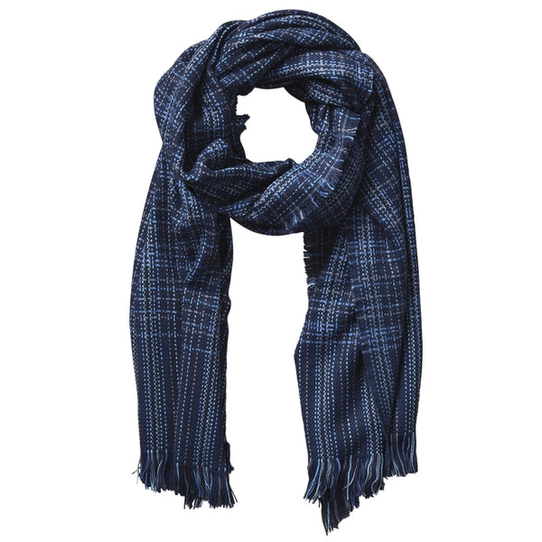 Arbor Lane Plaid Scarf - Navy