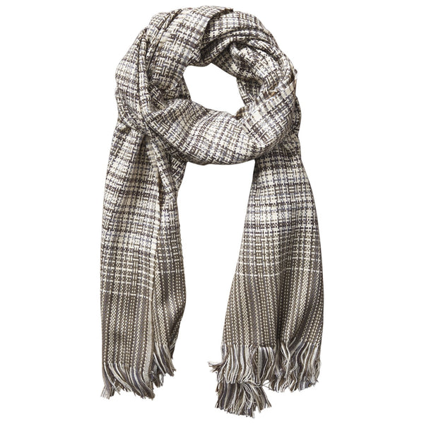 Arbor Lane Plaid Scarf - Brown